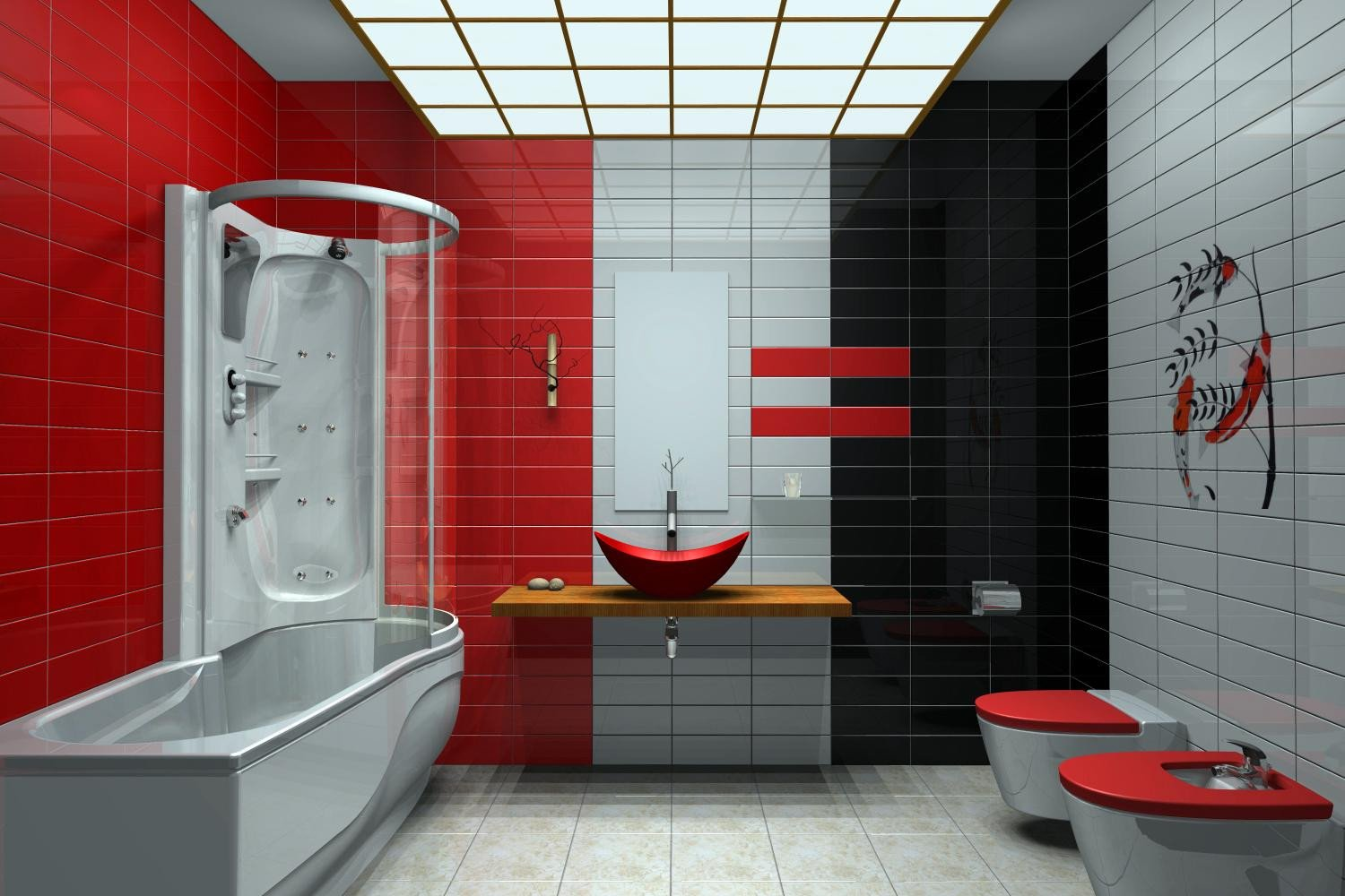 Red and Black Home Decor Beautiful 10 Best Bathroom Color Schemes