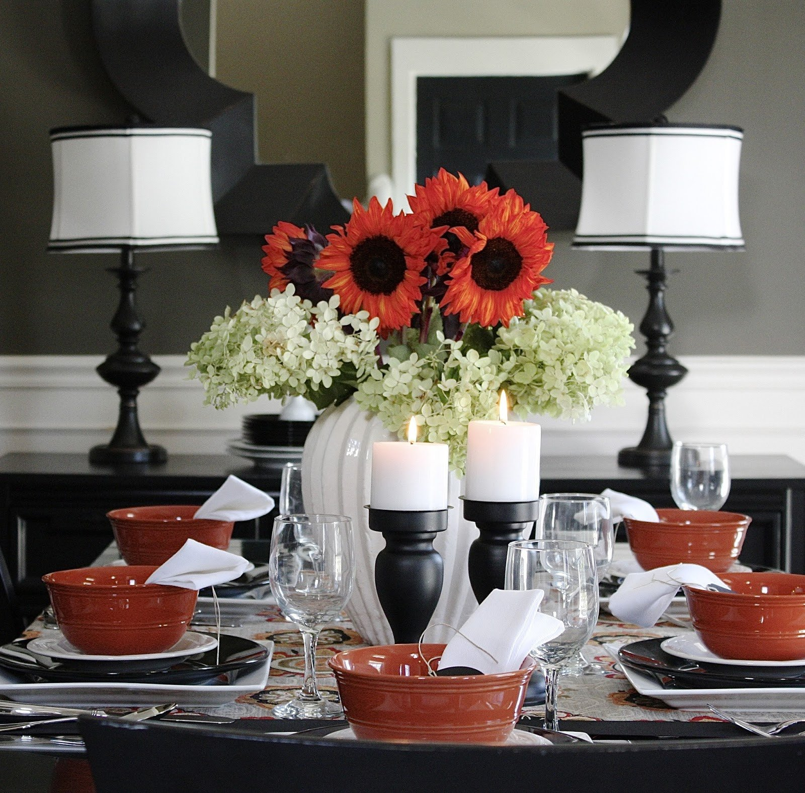 Red and Black Table Decor Awesome the Yellow Cape Cod Five Minute Fall Centerpiece Tutorial