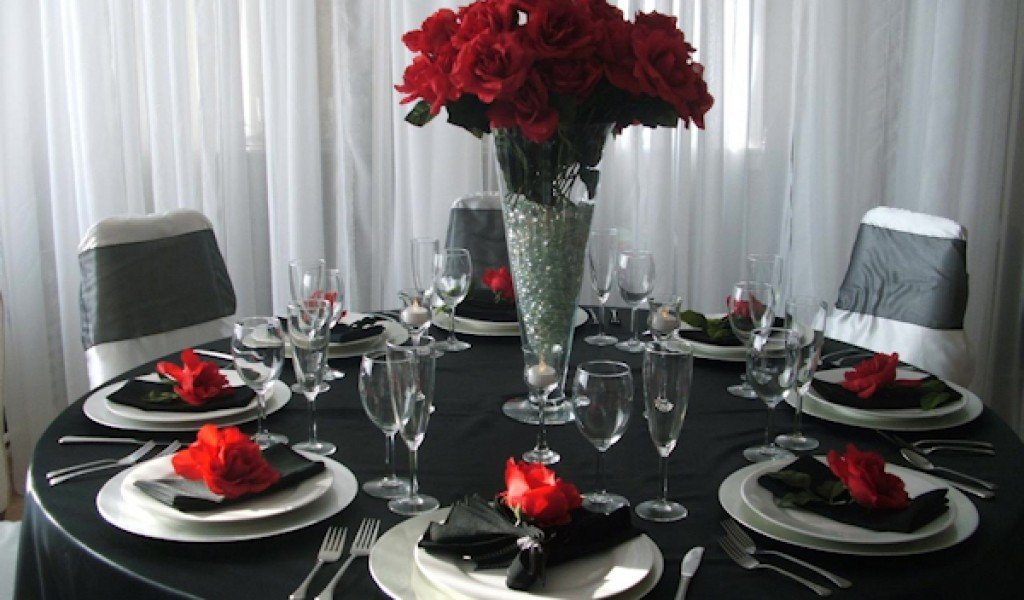Red and Black Table Decor Fresh Black Table Decorations for Weddings