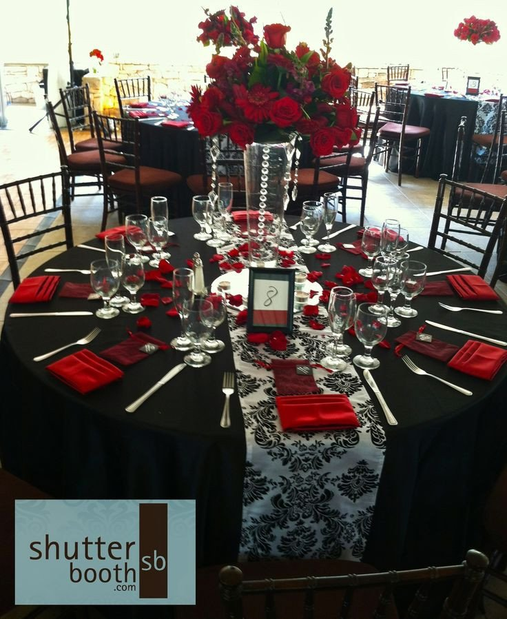 Red and Black Table Decor Fresh Shutterbooth San Diego Wedding Modern Elegance Red White and Black Wedding Colours