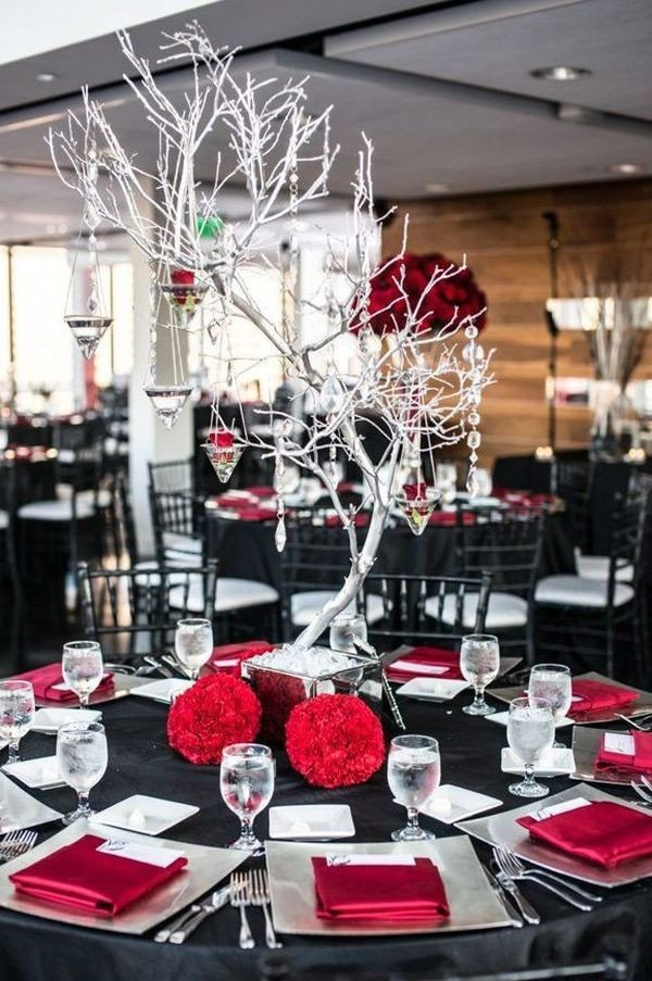 Red and Black Table Decor Inspirational Powerful Red and Black Wedding Décor Ideas