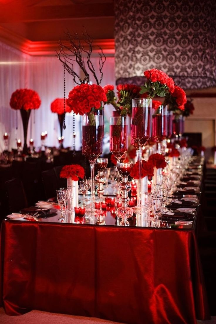 Red and Black Table Decor Luxury Red White and Black Wedding Table Decorating Ideas Wedding In Christmas