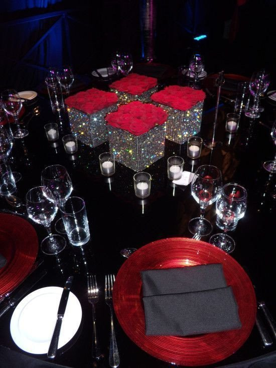 Red and Black Table Decor New Red Blackaid formal Gala Decor Google Search Wedding In 2019
