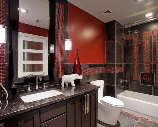 Red and Brown Bathroom Decor Awesome Bathroom Red and Brown Design Decorating Ideas
