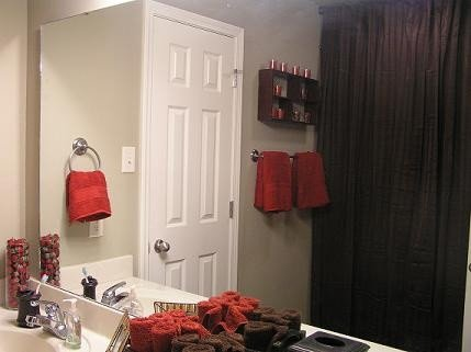 Red and Brown Bathroom Decor Lovely Red and Brown Bathroom