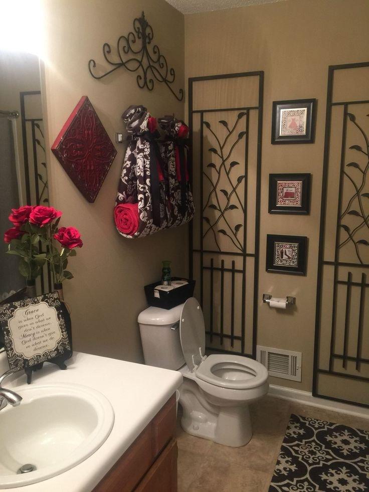 Red and Brown Bathroom Decor Luxury Red and Black Bathroom Deco Interiores En 2019