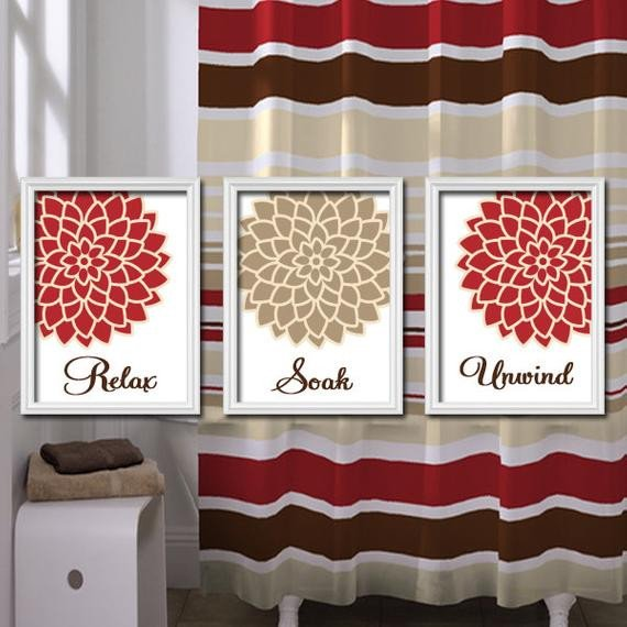 Red and Brown Wall Decor Beautiful Relax soak Unwind Red Beige Tan Brown Dahlia Flower by Trmdesign