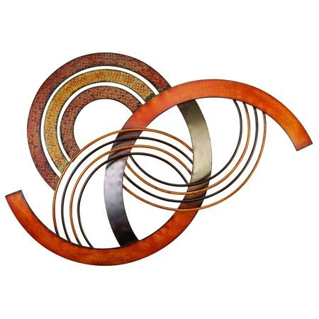 Red and Brown Wall Decor Elegant Metal Wall Decor with Brown Red and orange Colors Walmart