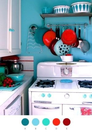 Red and Teal Kitchen Decor Beautiful Teal Red Kitchen by Caitlin Decorating