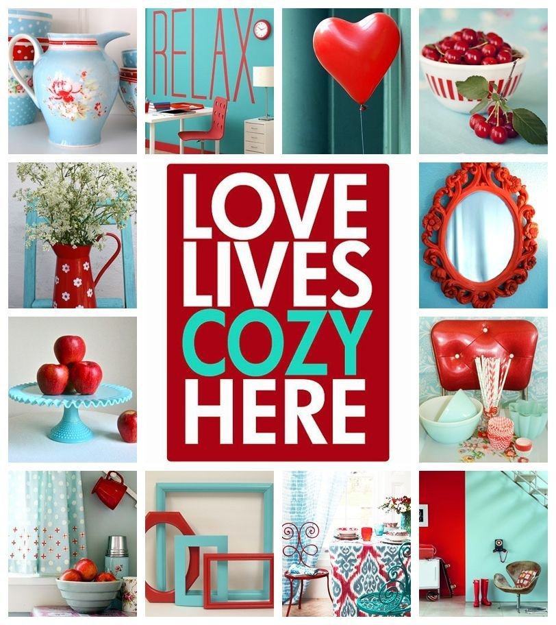 Red and Teal Kitchen Decor Fresh Moodboard Aqua and Red by at Moods In 2019