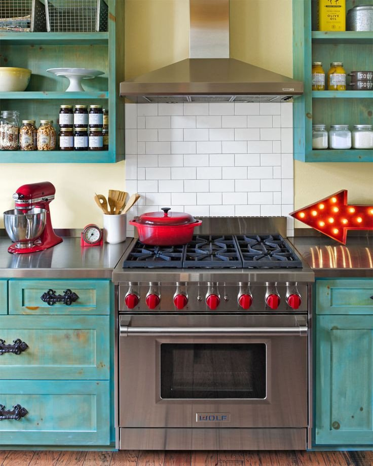 Red and Teal Kitchen Decor Fresh Red and Blue Interiors by Color 48 Interior Decorating Ideas