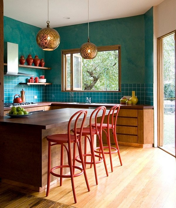 Red and Teal Kitchen Decor New Hot Color Trends Coral Teal Eggplant and More