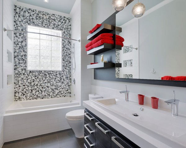 Red and White Bathroom Decor Beautiful 5 Easy Bathroom Makeover Ideas