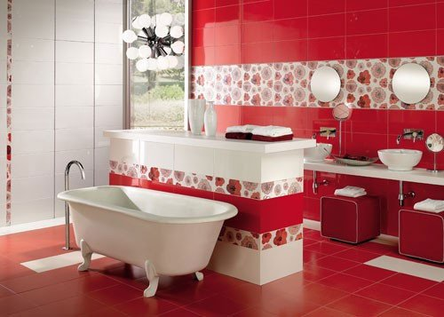Red and White Bathroom Decor Elegant 39 Cool and Bold Red Bathroom Design Ideas Digsdigs