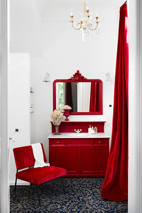 Red and White Bathroom Decor Elegant Pinterio