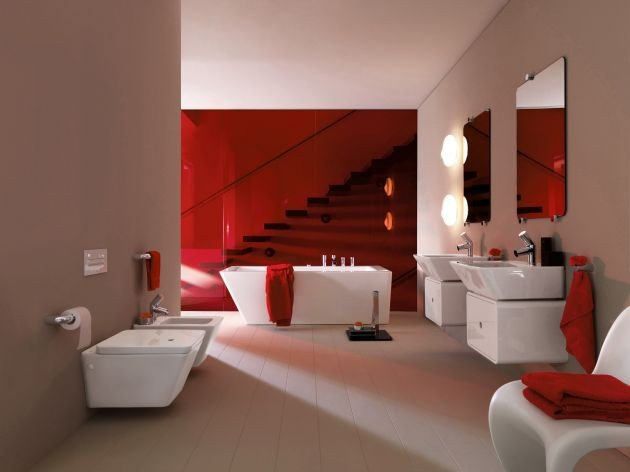 Red and White Bathroom Decor Fresh 39 Cool and Bold Red Bathroom Design Ideas
