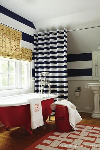 Red and White Bathroom Decor New American Inspired Red White & Blue Bathrooms – Rotator Rod