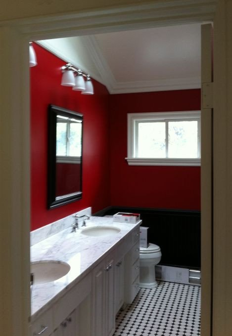 Red and White Bathroom Decor Unique White Black & Red Bathroom Kinda Like It something Different Home Sweet Home