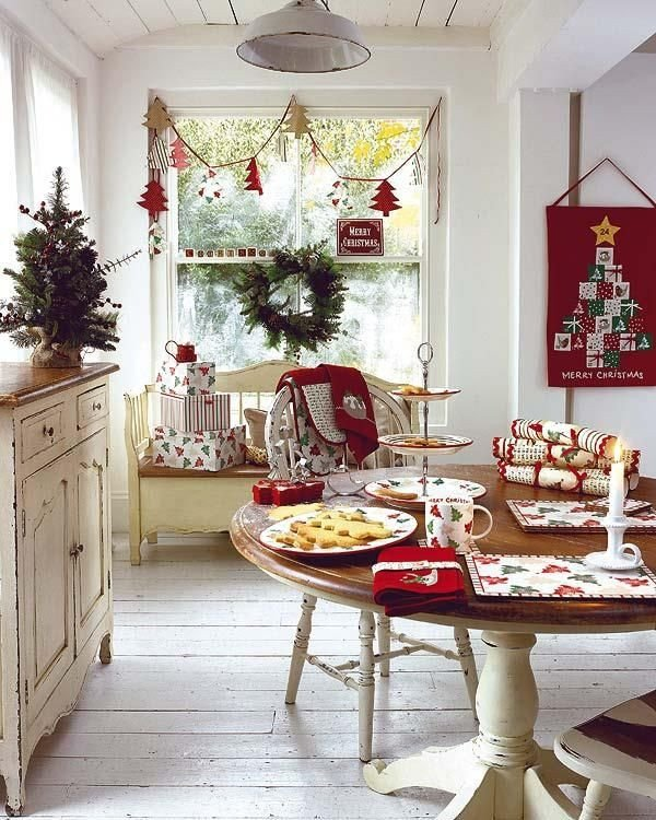 Red and White Kitchen Decor Awesome Red and White Kitchen Christmas theme Decoist