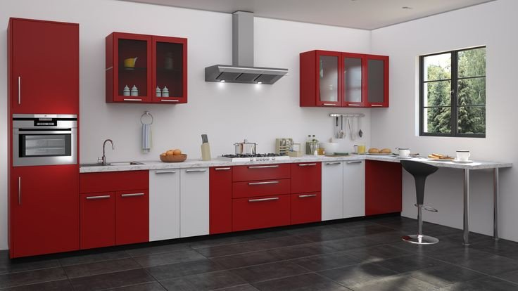 Red and White Kitchen Decor Awesome Red and White Kitchen Designs Straight Kitchen Designs In 2019