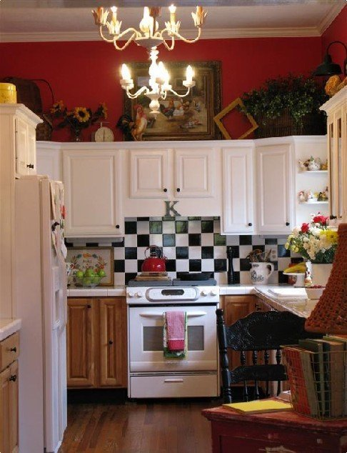 Red and White Kitchen Decor Elegant Colorful Cottage Decorating Ideas In Red Yellow Blue Black & White