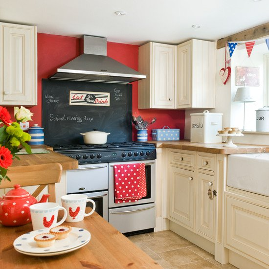 Red and White Kitchen Decor Fresh Red White and Blue Country Kitchen Period Decorating Ideas