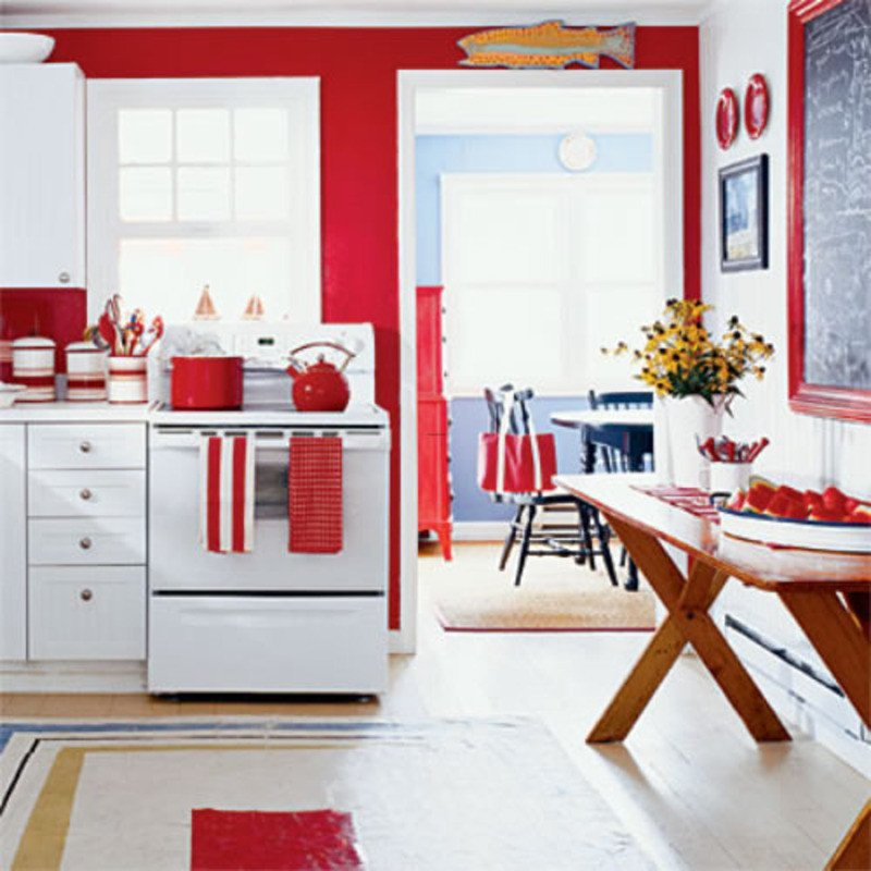Red and White Kitchen Decor Inspirational Red Kitchen Decorating Ideas