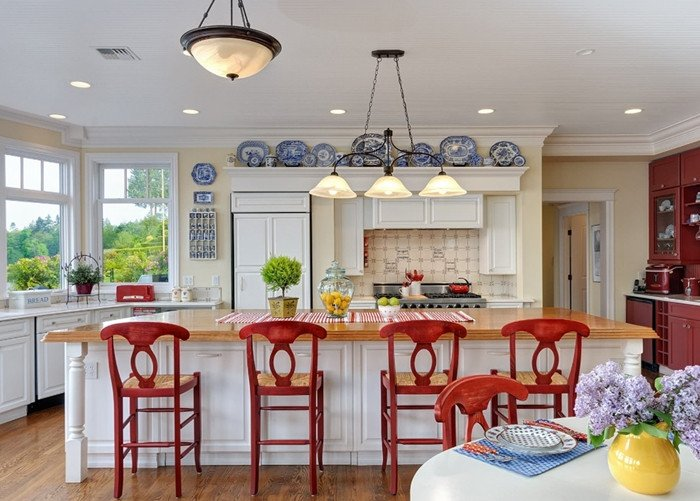 Red and White Kitchen Decor Luxury Decorating with Red White and Blue town & Country Living