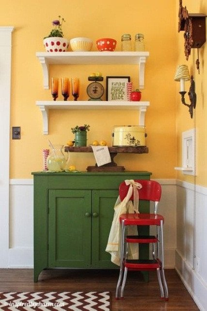 Red and Yellow Kitchen Decor Beautiful Cheerful Summer Interiors 50 Green and Yellow Kitchen Designs Digsdigs