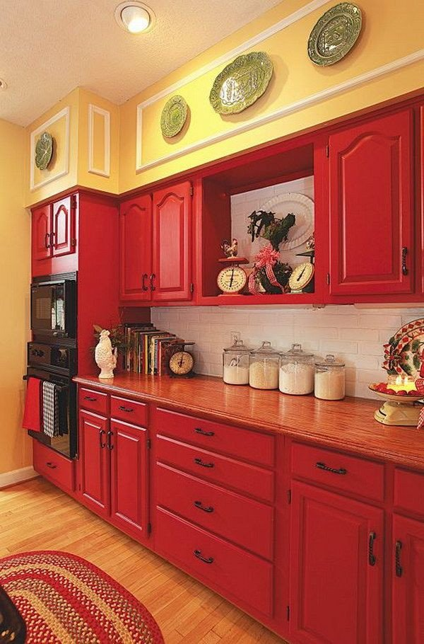Red and Yellow Kitchen Decor Luxury 80 Cool Kitchen Cabinet Paint Color Ideas Kitchen Paint