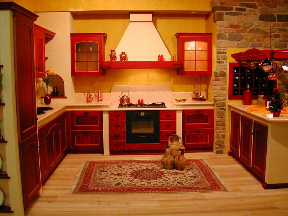 Red and Yellow Kitchen Decor Unique Of Red Kitchen Cabinets Interior Design Inspirations