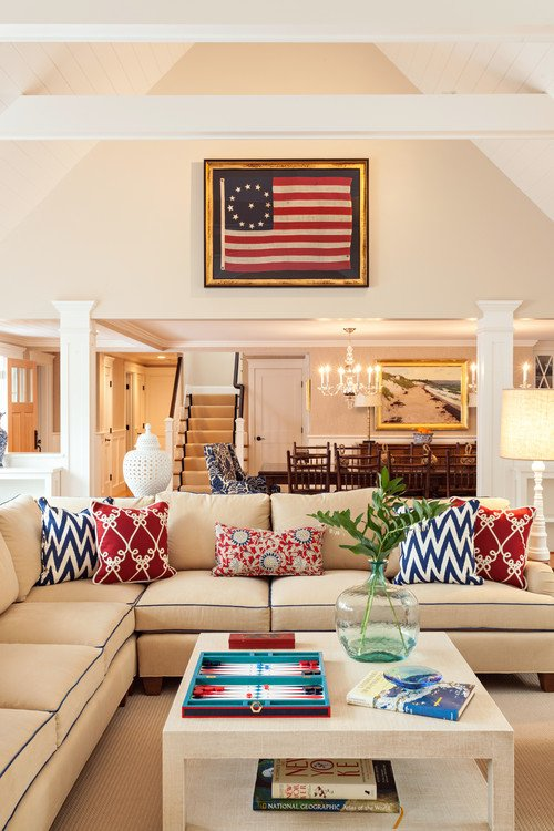 Red White and Blue Decor Awesome Decorating with Red White and Blue town & Country Living