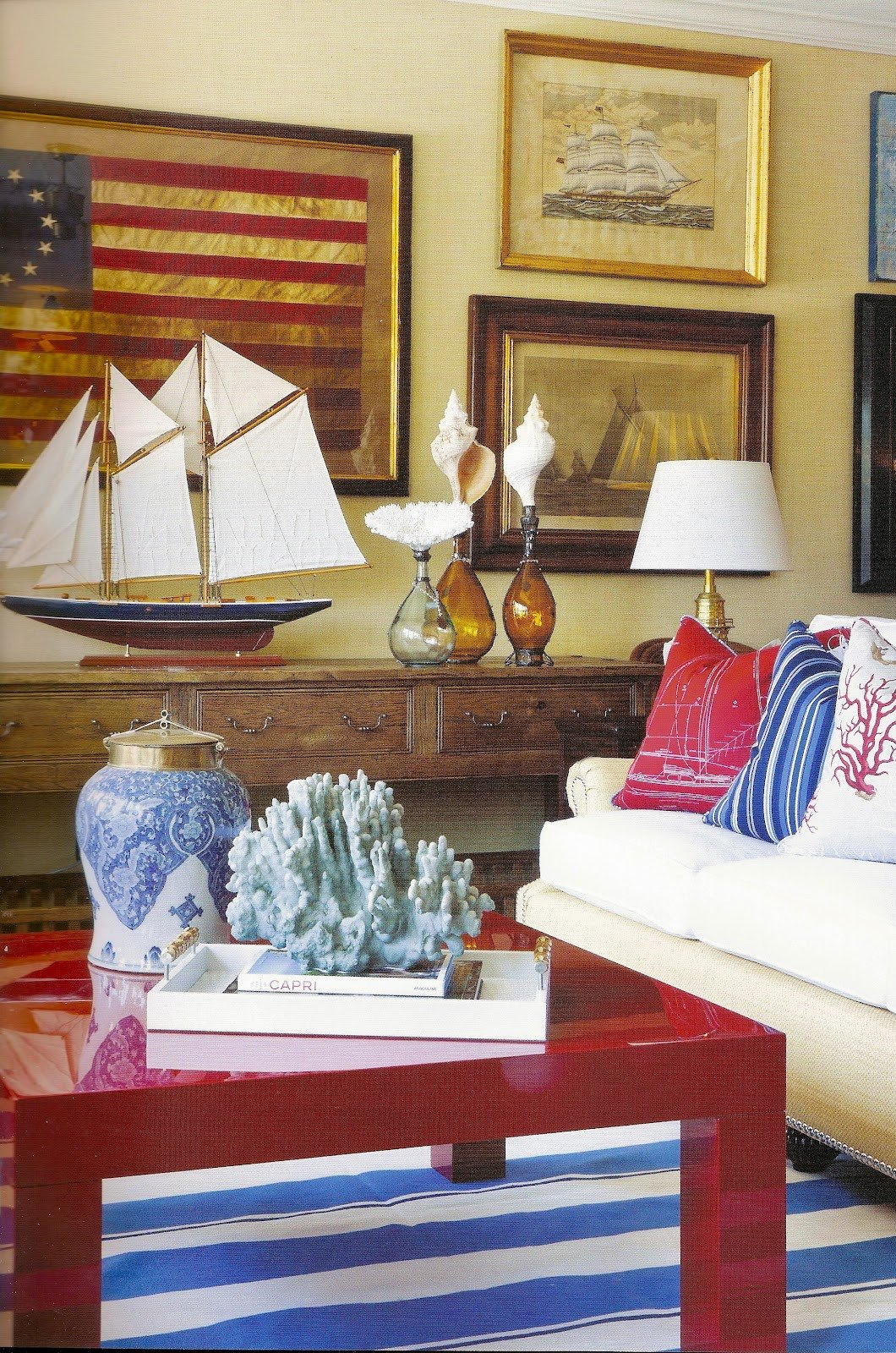 Red White and Blue Decor Fresh Ciao Newport Beach Red White & Blue by Barclay butera
