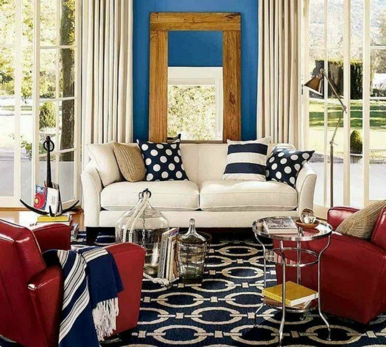 Red White and Blue Decor Fresh Coastal Home Inspirations On the Horizon Rooms with Nautical Elements