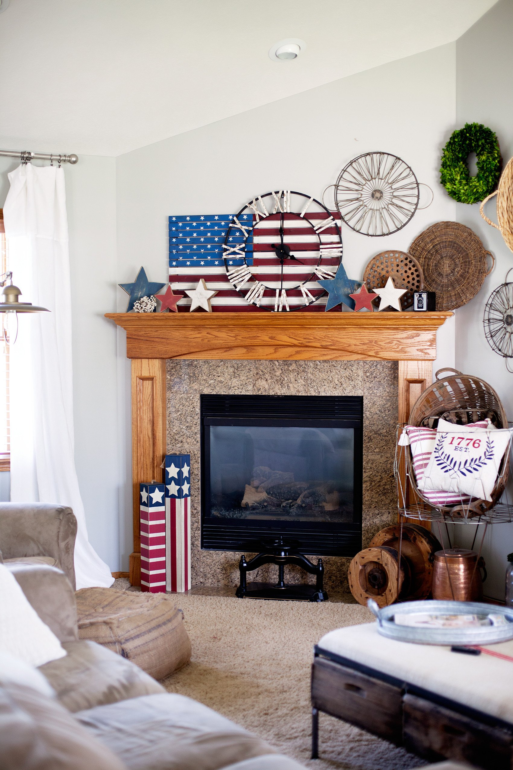 Red White and Blue Decor Inspirational Quick Red White and Blue Home Decor • Whipperberry