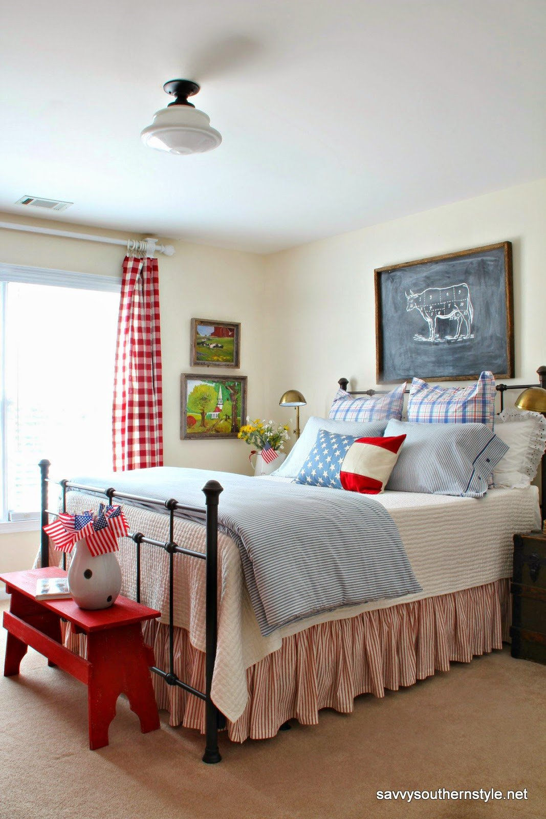 Red White and Blue Decor New Savvy southern Style Remembering Red White and Blue Decor In My Favorite Rooms