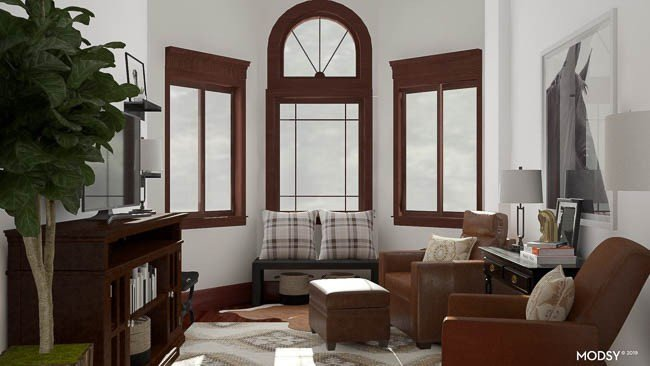 Room Decor for Small Rooms Elegant Parents Small Living Room with Leather Chairs Four Generations E Roof