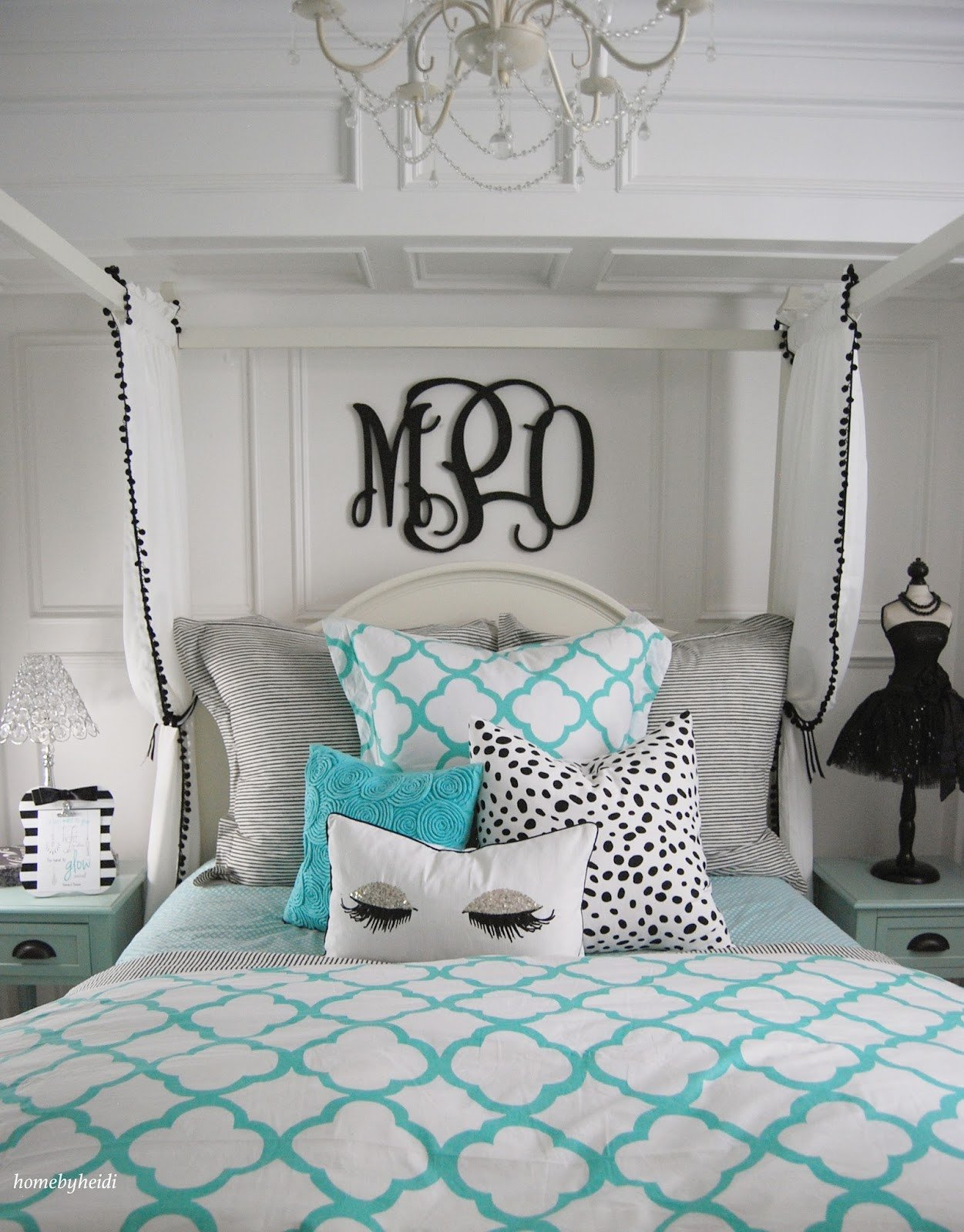 Room Decor for Teenage Girl Elegant Home by Heidi Tiffany Inspired Bedroom