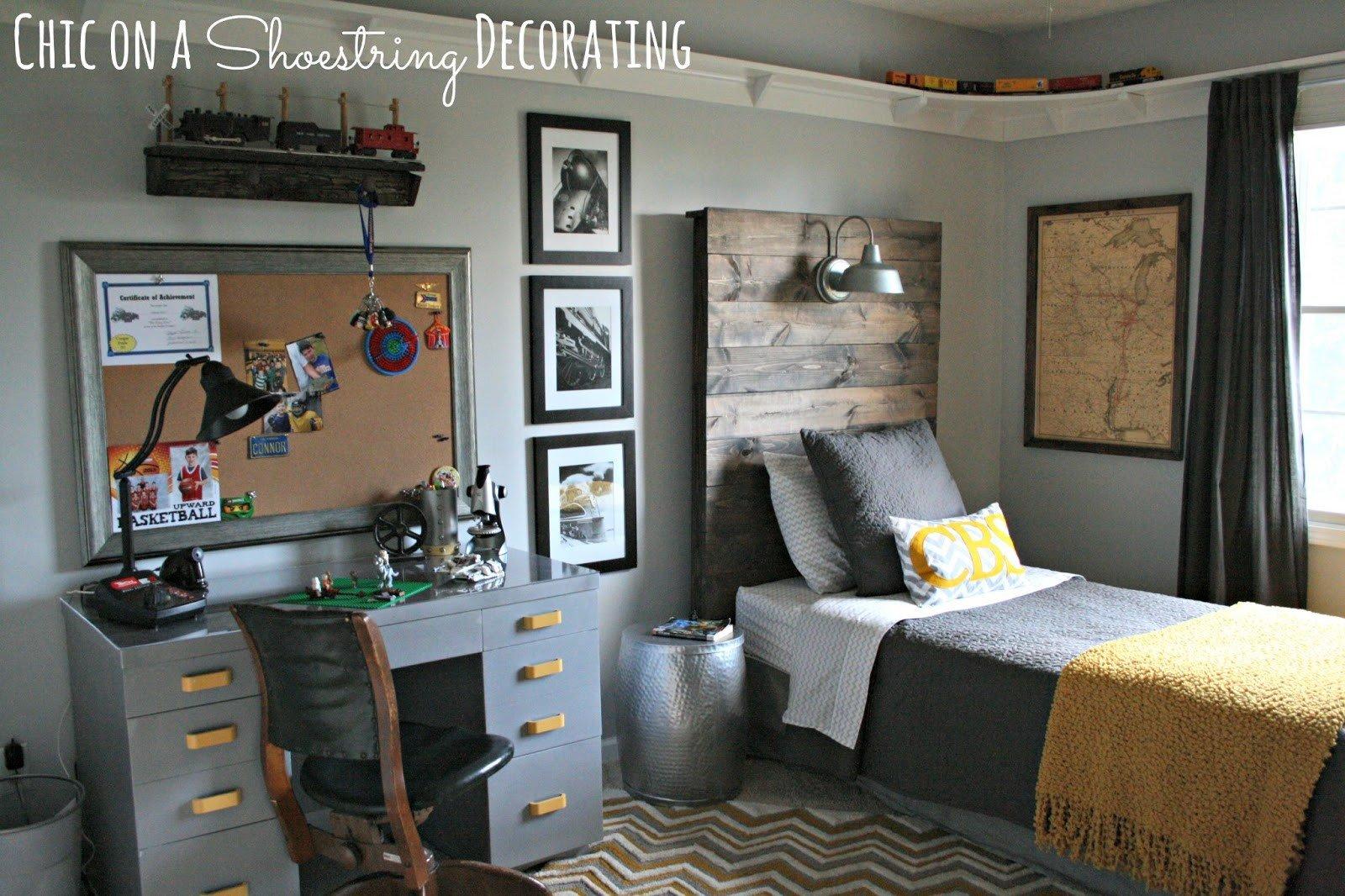 Room Decor Ideas for Boys Elegant Chic On A Shoestring Decorating Bigger Boy Room Reveal