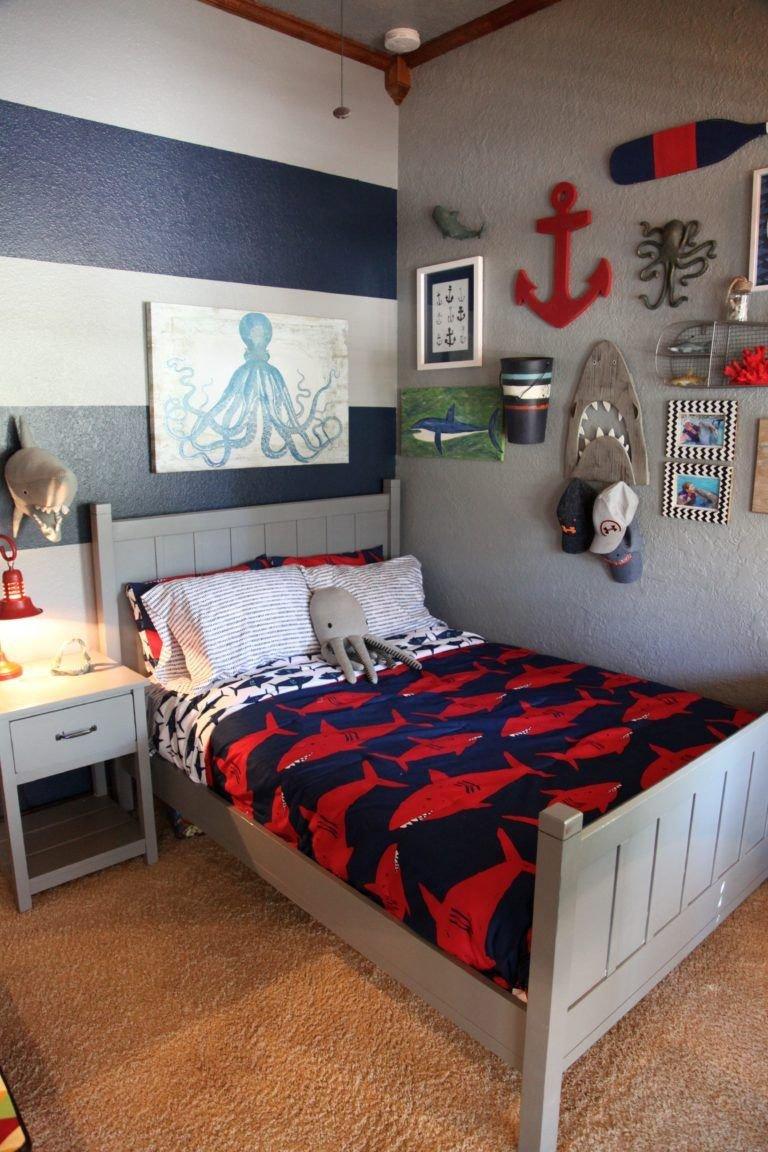 Room Decor Ideas for Boys Luxury Shark themed Boy S Room Big Boy Rooms In 2019