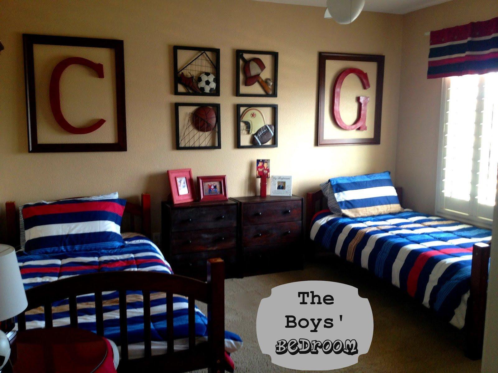 Room Decor Ideas for Boys New Marci Coombs the Boys Sports themed Bedroom