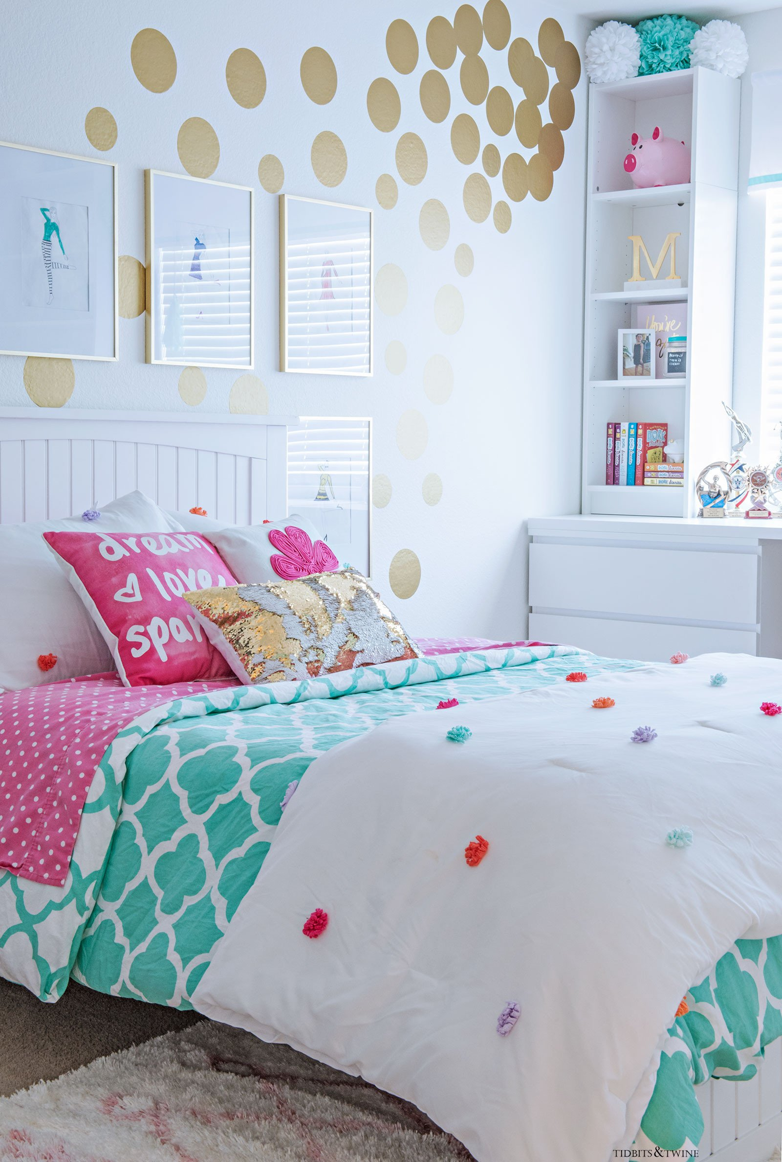 Room Decor Ideas for Girl Awesome Tween Girl S Bedroom Makeover Reveal Tidbits&twine
