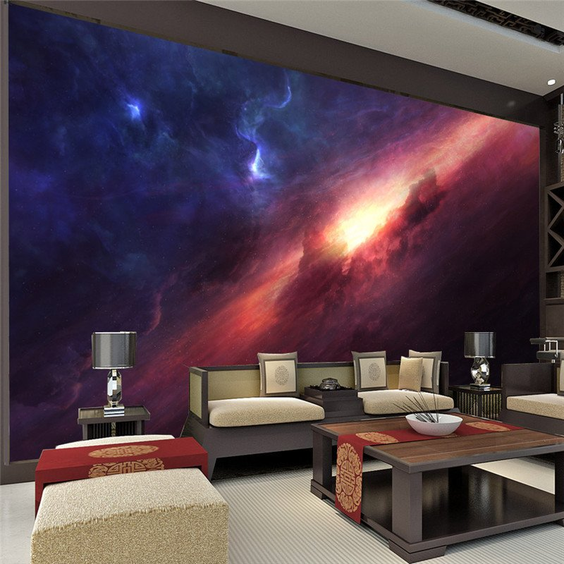 Rooms to Go Wall Decor New 3d Charming Galaxy Wallpaper Room Decor Fantasy Wallpaper Wall Mural Poster Wall Art