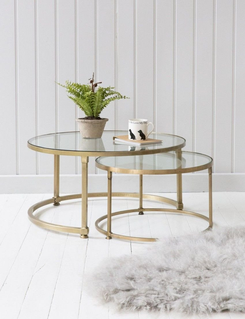 Round Coffee Table Decor Ideas Best Of Coco Nesting Round Glass Coffee Tables Home Inspiration
