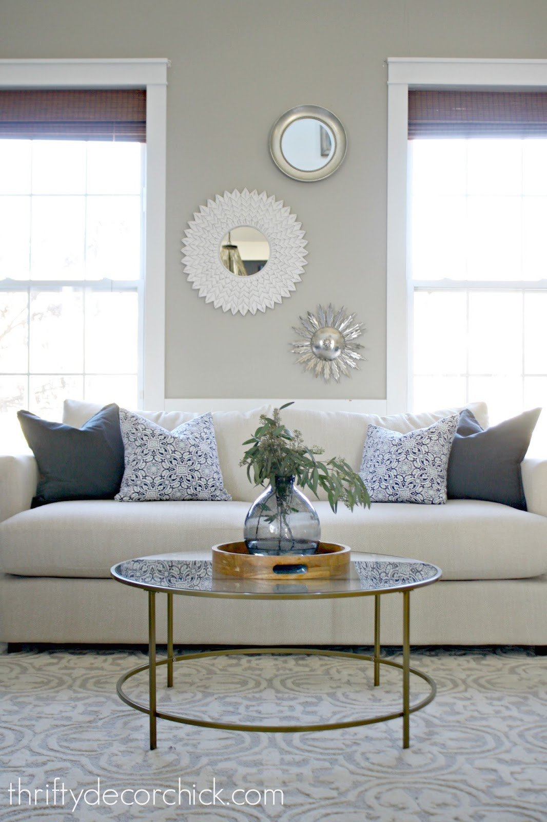Round Coffee Table Decor Ideas Best Of when In Doubt Add some Circles From Thrifty Decor Chick
