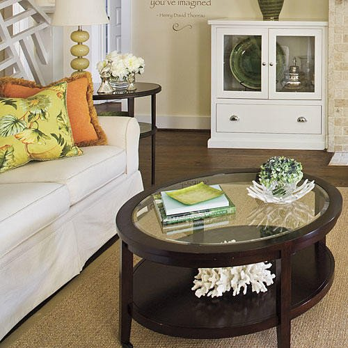 Round Coffee Table Decor Ideas Elegant Design Ideas for Living Rooms and Dining Rooms southern Living