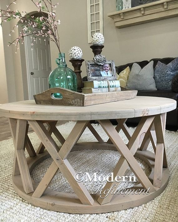 Round Coffee Table Decor Ideas Elegant Gorgeous Rustic Round Farmhouse Coffee Table by Modernrefinement Living Room