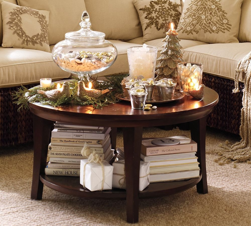 Round Coffee Table Decor Ideas Luxury Winter Coffee Table Winter Pinterest