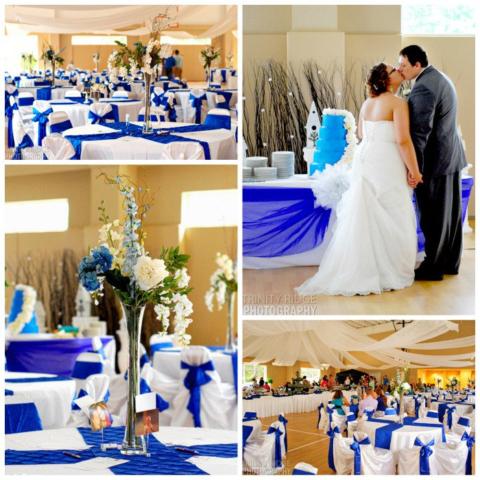 Royal Blue Decor for Weddings Beautiful Royal Blue and Ivory Wedding Decorations