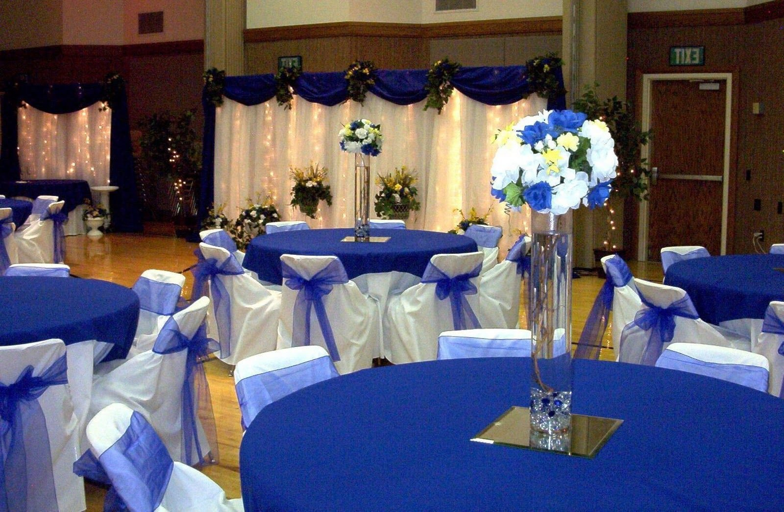 Royal Blue Decor for Weddings Fresh Wedding Decor Blue